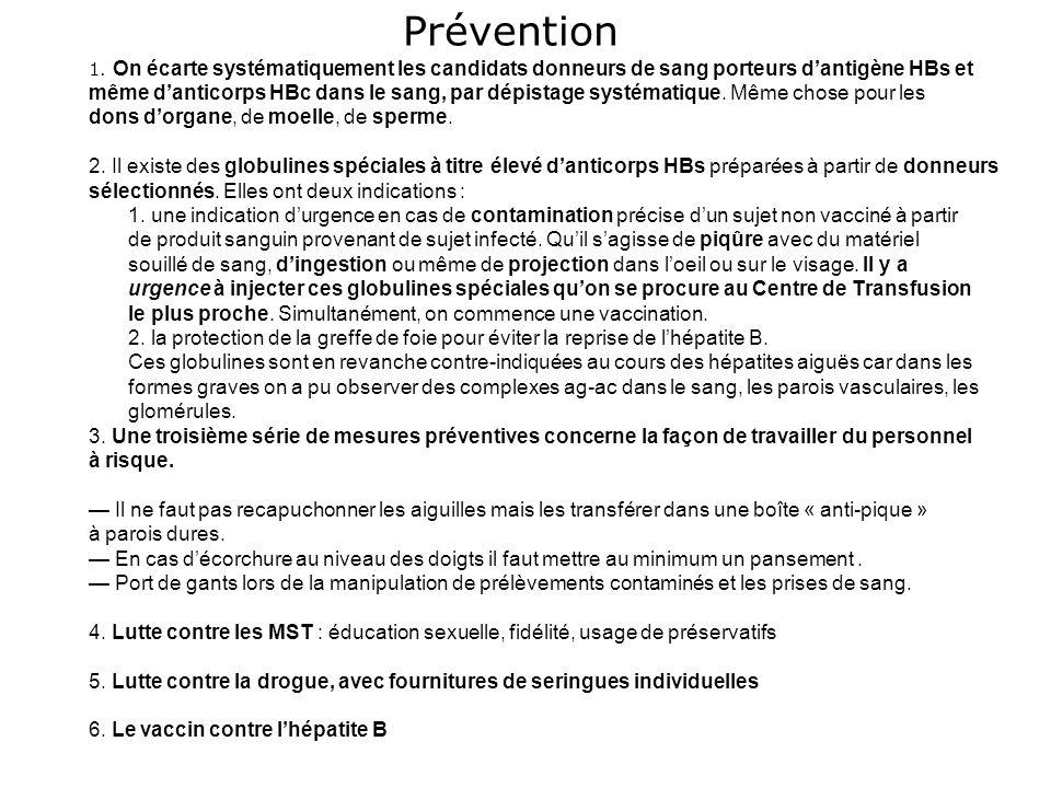 Vaccins du calendrier : lhépatite B Données de la DO 03/2003 et 03/2004 : 145 Déclarations dhépatites aiguës Facteurs de risques : +++ Dans 21 cas ( 14,5%) : Voyage en pays dendémie Antona et al, BEH 2005