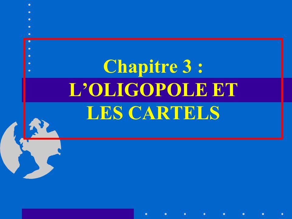 Chapitre 3 : LOLIGOPOLE ET LES CARTELS