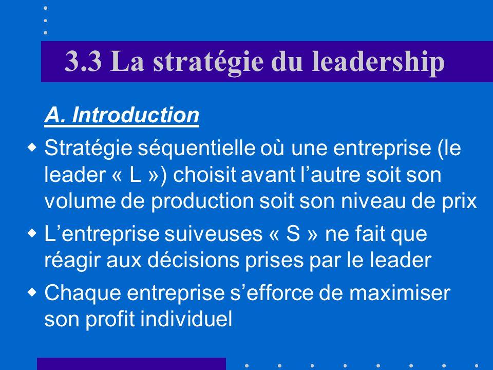3.3 La stratégie du leadership A.