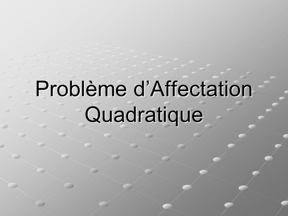 Problème dAffectation Quadratique