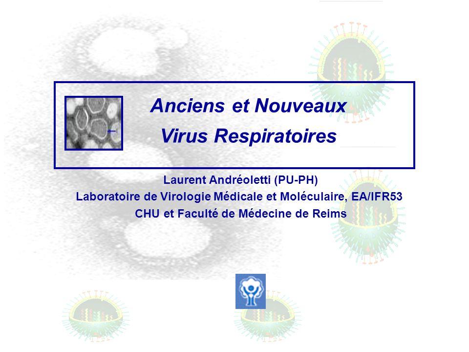 Laurent Andréoletti (PU-PH) Laboratoire de Virologie Médicale et Moléculaire, EA/IFR53 CHU et Faculté de Médecine de Reims Anciens et Nouveaux Virus R