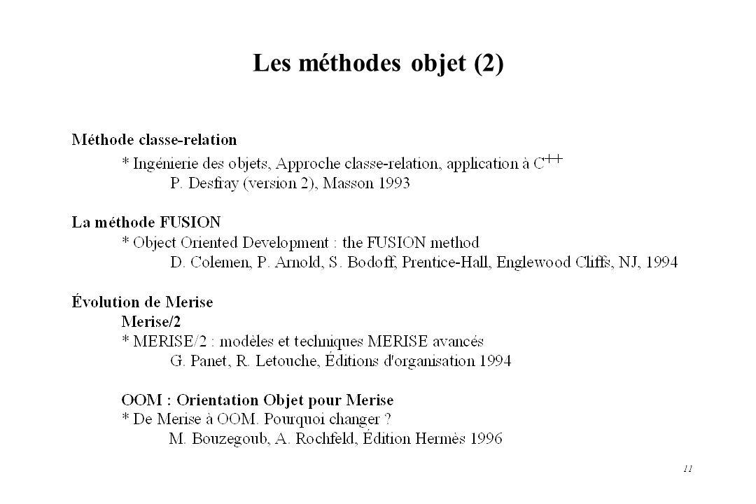 11 Les méthodes objet (2)