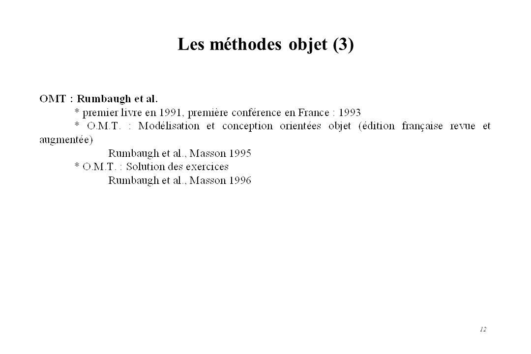 12 Les méthodes objet (3)