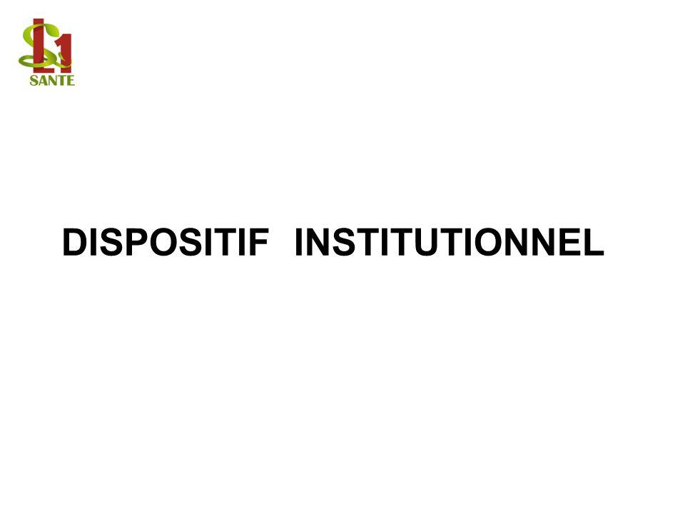 DISPOSITIF INSTITUTIONNEL