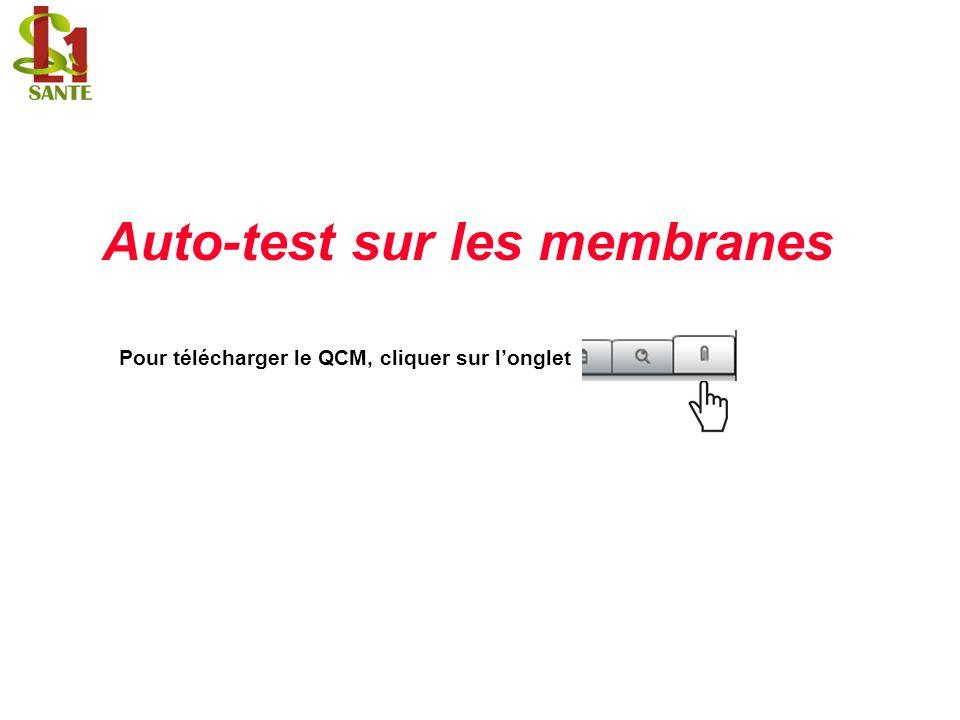 Auto-test sur les membranes Pour télécharger le QCM, cliquer sur longlet