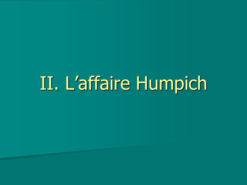 II. Laffaire Humpich