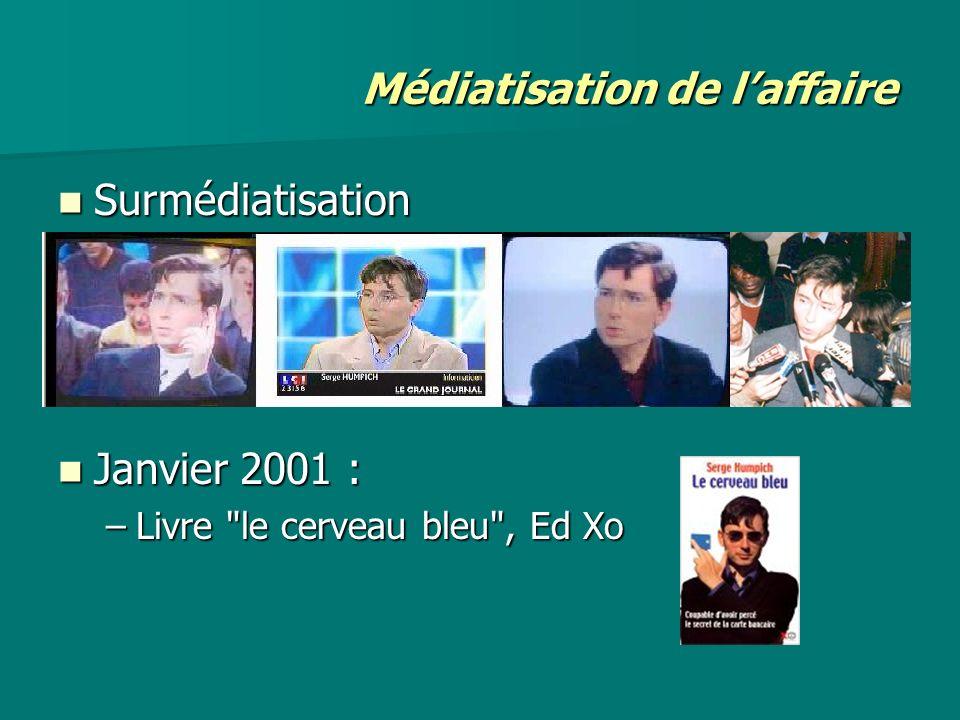 Surmédiatisation Surmédiatisation Janvier 2001 : Janvier 2001 : –Livre
