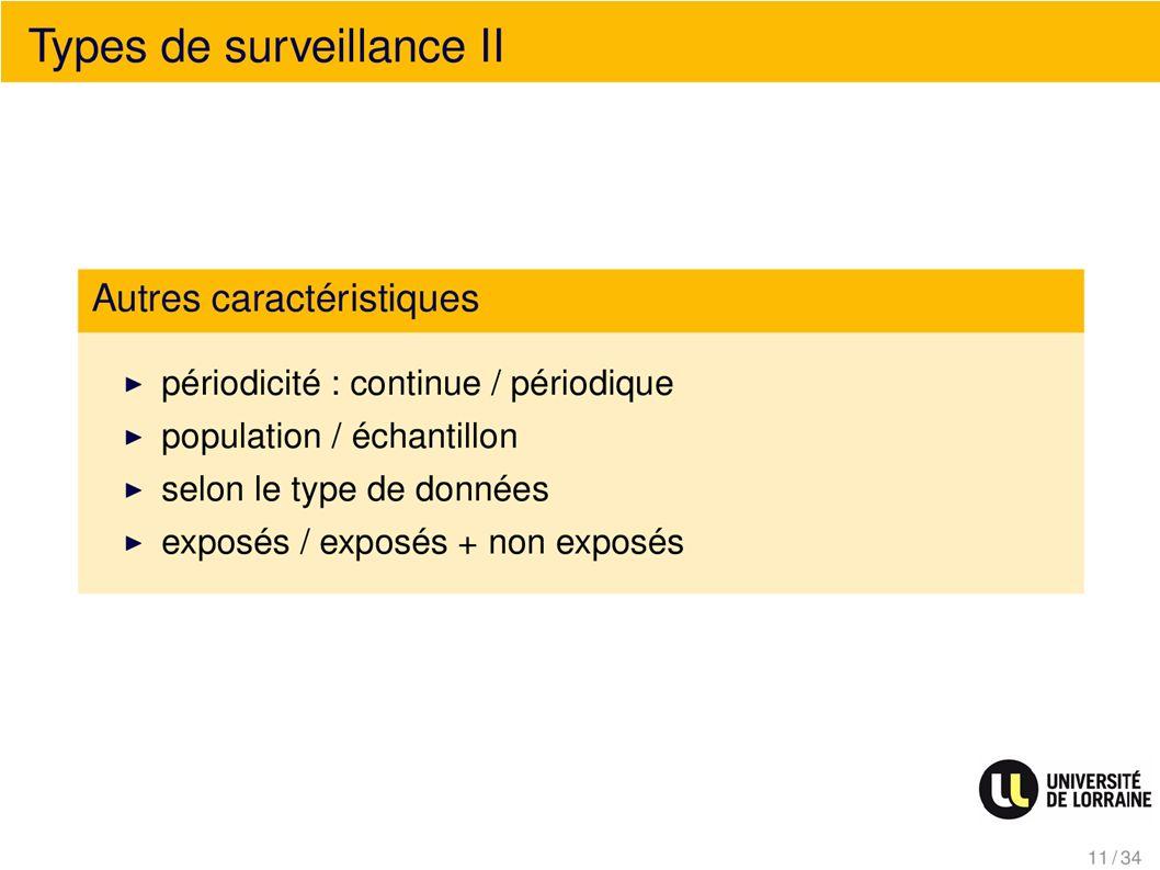 Type de surveillance II