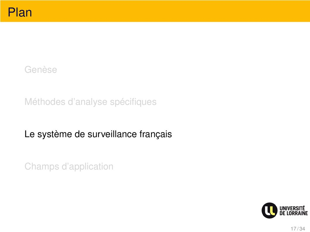 Plan Le système de surveillance français