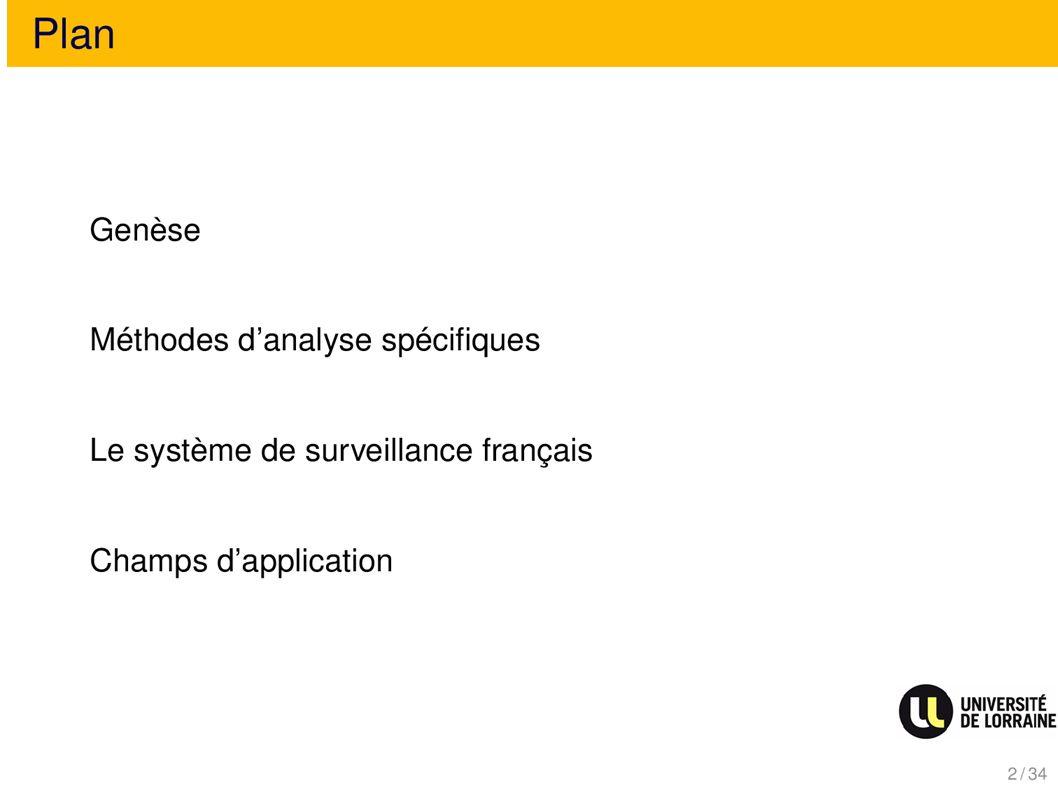 Plan Méthodes danalyse spécifiques