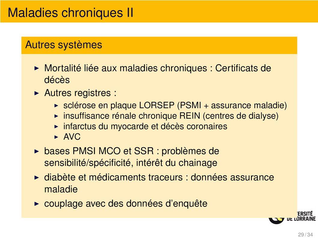 Maladies chroniques II