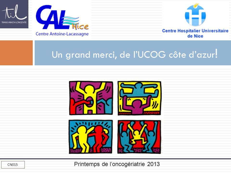 Printemps de loncogériatrie 2013 CN015 Un grand merci, de lUCOG côte dazur !
