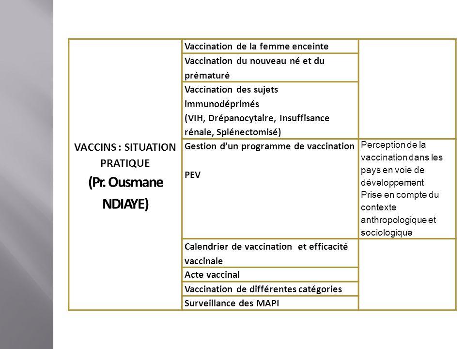 Unités denseignementEléments constitutifsContenus VACCINS INNOVANTS (Pr.