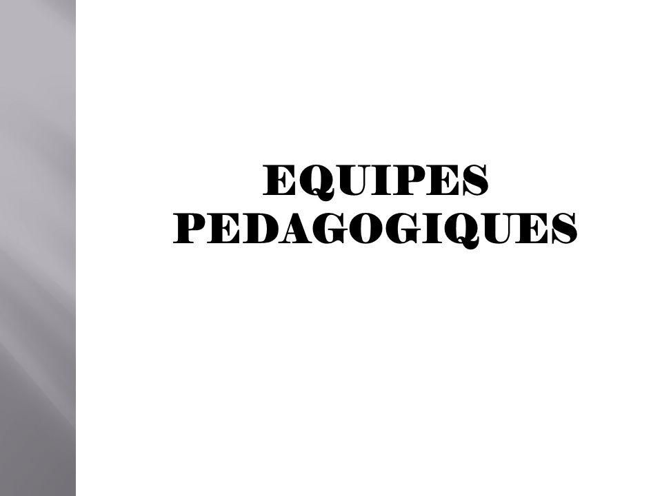 EQUIPES PEDAGOGIQUES
