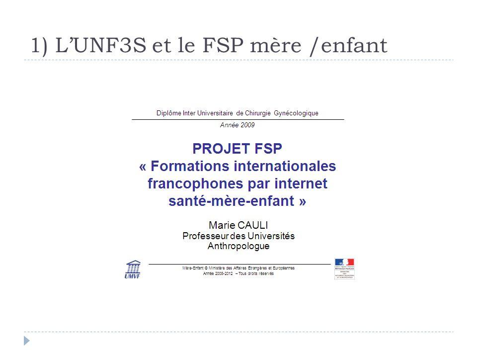 1) LUNF3S et le FSP mère /enfant