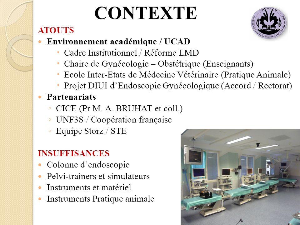 ATOUTS Environnement académique / UCAD Cadre Institutionnel / Réforme LMD Chaire de Gynécologie – Obstétrique (Enseignants) Ecole Inter-Etats de Médec