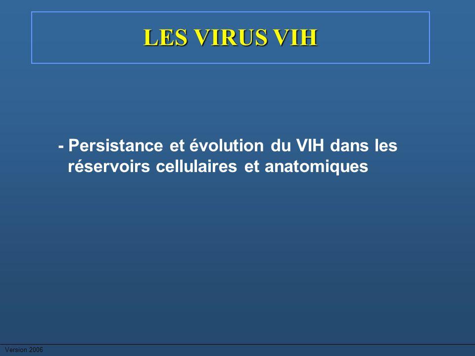 Version 2006 LES VIRUS VIH - Persistance et évolution du VIH dans les réservoirs cellulaires et anatomiques