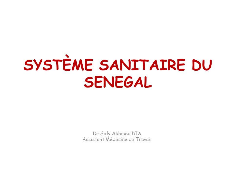 SYSTÈME SANITAIRE DU SENEGAL Dr Sidy Akhmed DIA Assistant Médecine du Travail