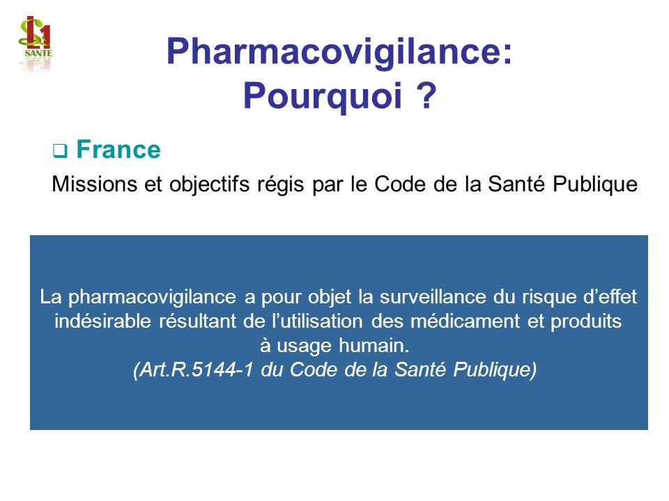 La pharmacovigilance a pour objet la surveillance du risque deffet indésirable résultant de lutilisation des médicament et produits à usage humain. (A