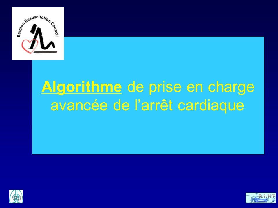 Algorithme de prise en charge avancée de larrêt cardiaque
