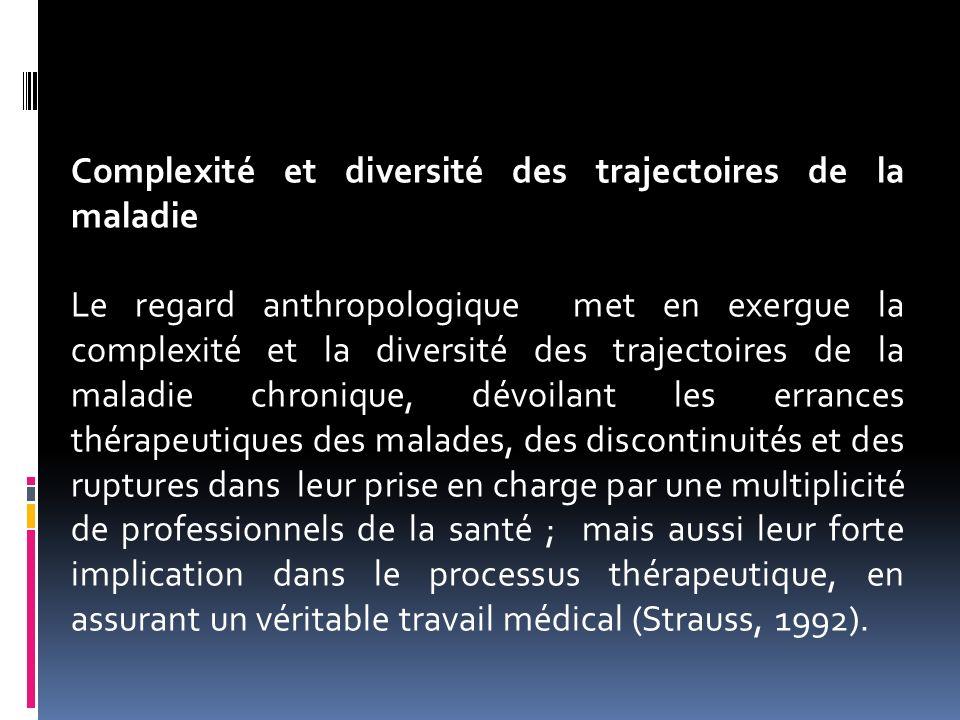 Complexité et diversité des trajectoires de la maladie Le regard anthropologique met en exergue la complexité et la diversité des trajectoires de la m