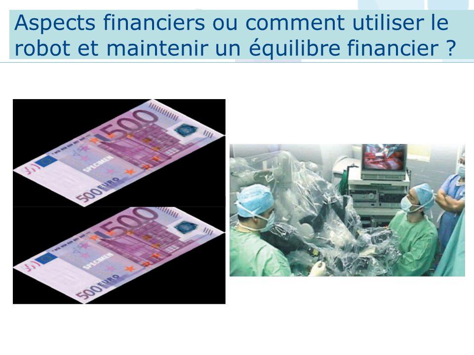 Aspects financiers ou comment utiliser le robot et maintenir un équilibre financier ?