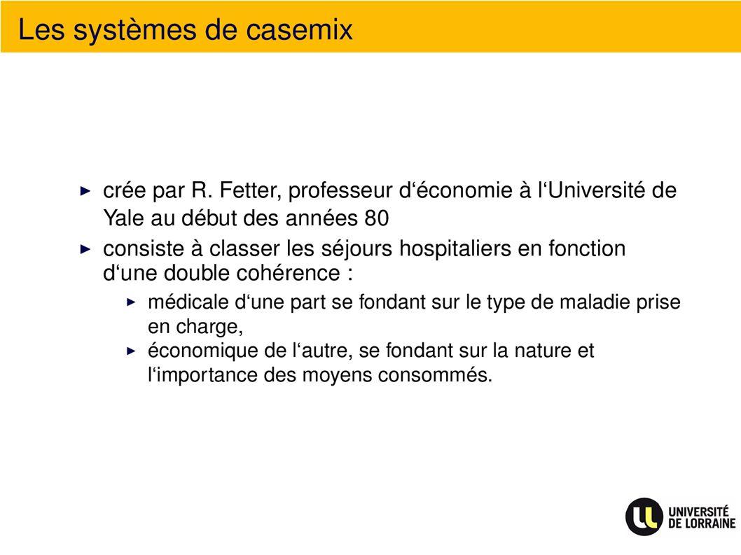 Les systèmes de casemix