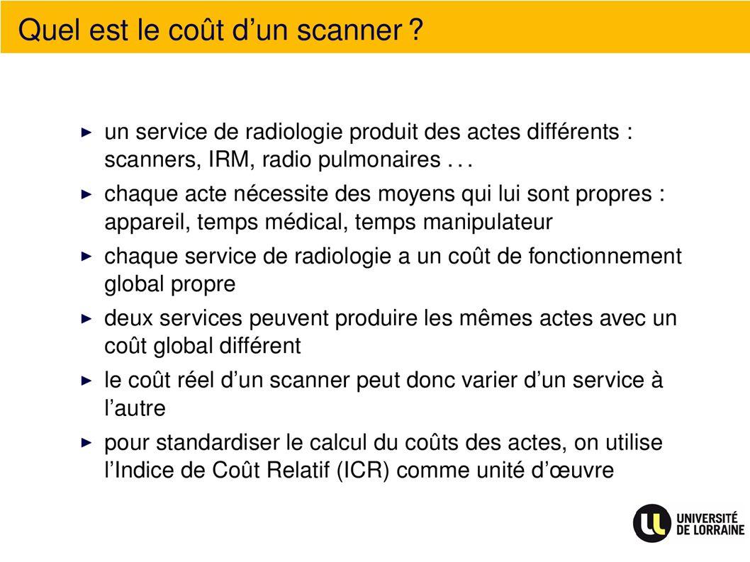 Quel est le coût dun scanner ?
