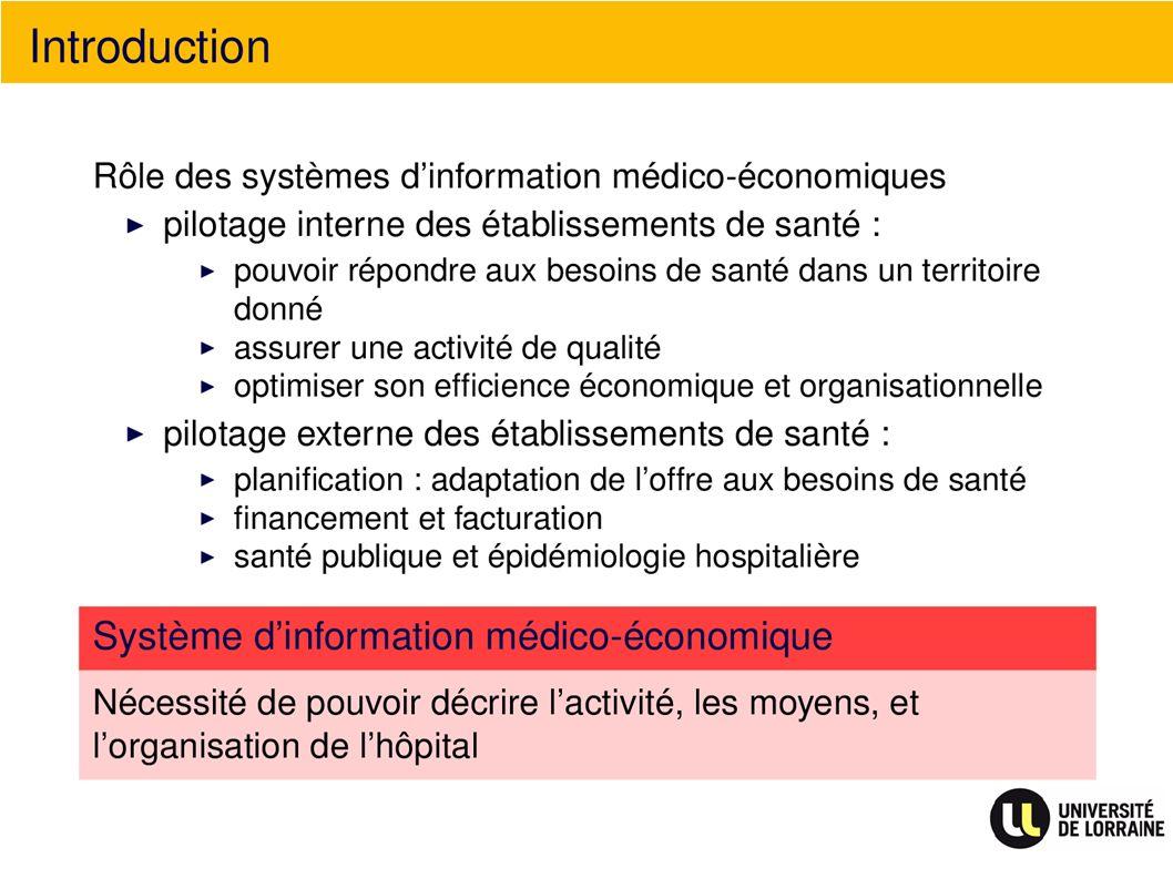 Vers des indicateurs médicalisés
