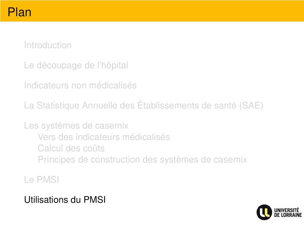 Plan Utilisation du PMSI