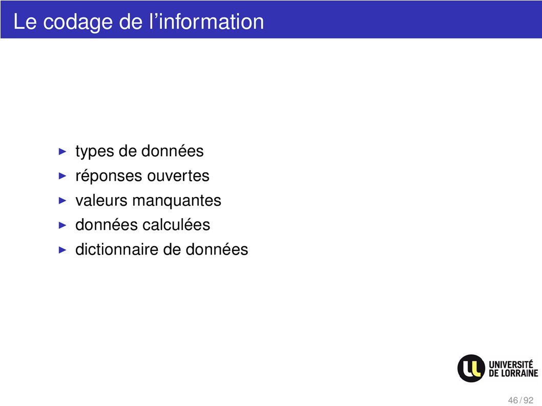 Le codage de linformation
