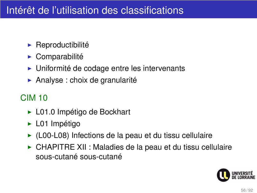 Intérêt de lutilisation des classifications CIM 10