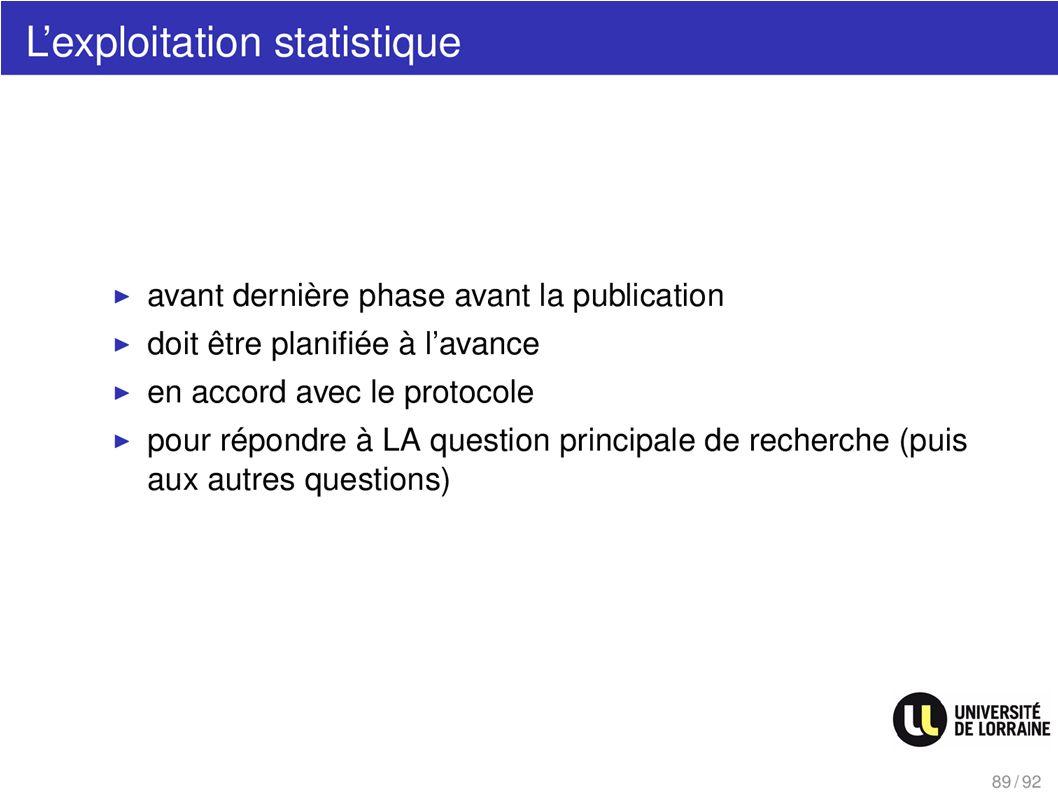 Lexploitation statistique