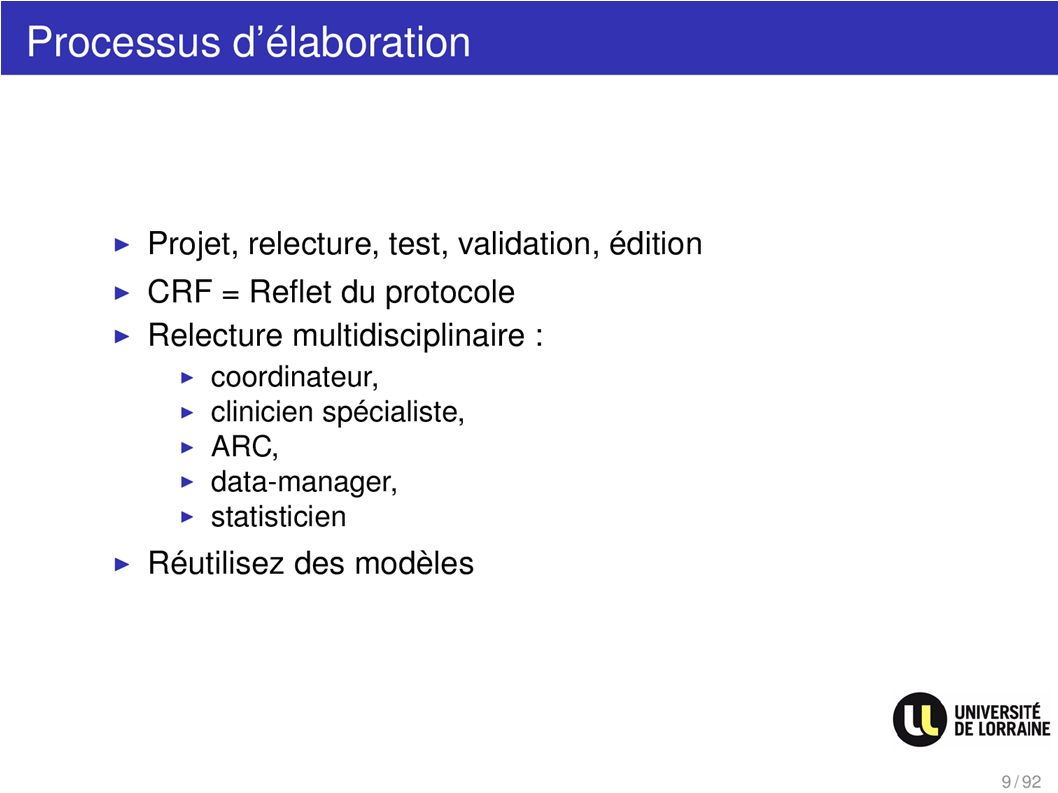 Processus délaboration