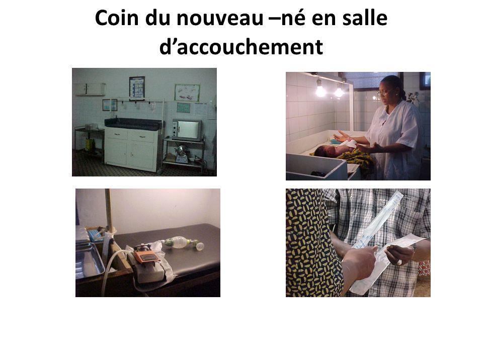 Coin du nouveau –né en salle daccouchement