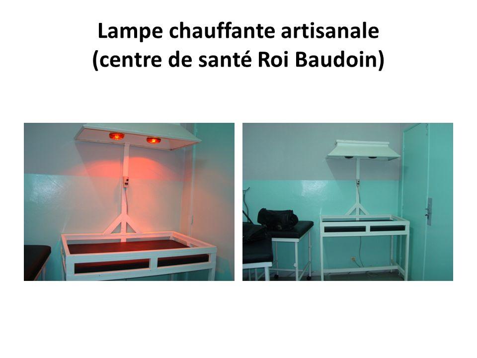 Lampe chauffante artisanale (centre de santé Roi Baudoin)