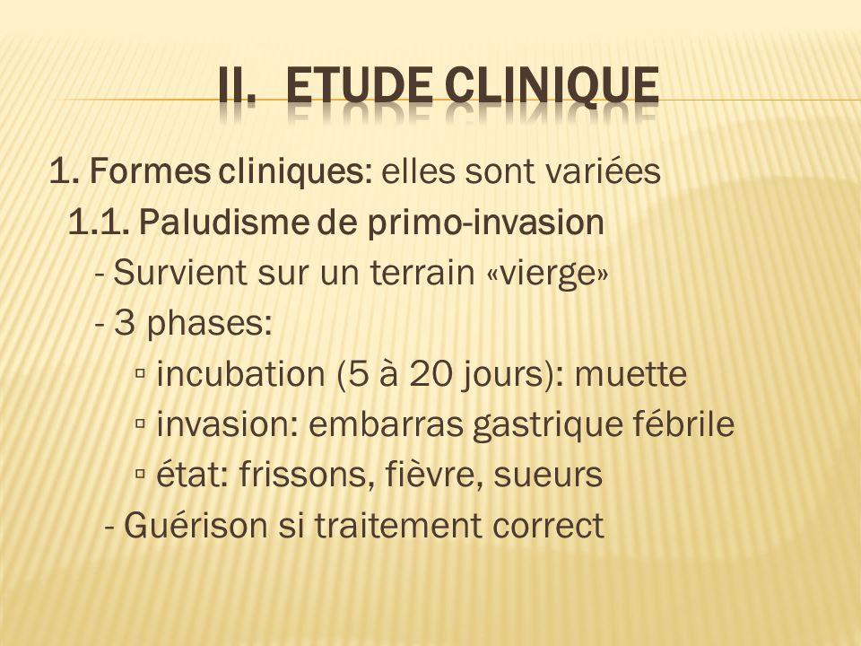 1.Formes cliniques: elles sont variées 1.1.