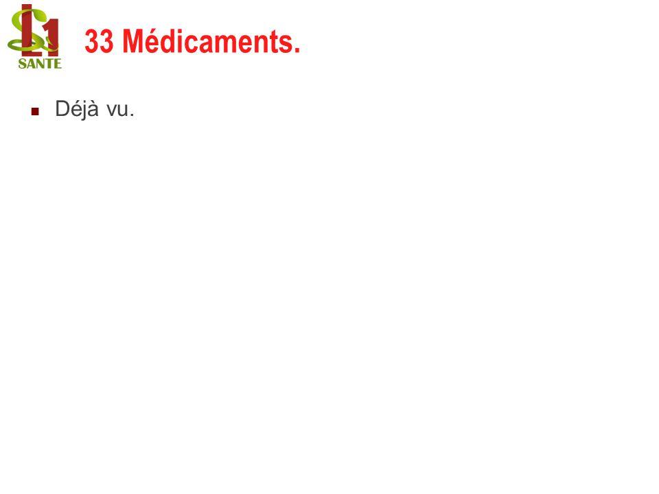 22/02/201431 Déjà vu. 33 Médicaments.