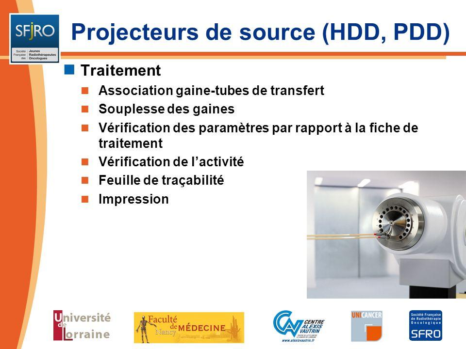 Traitement Association gaine-tubes de transfert Souplesse des gaines Vérification des paramètres par rapport à la fiche de traitement Vérification de