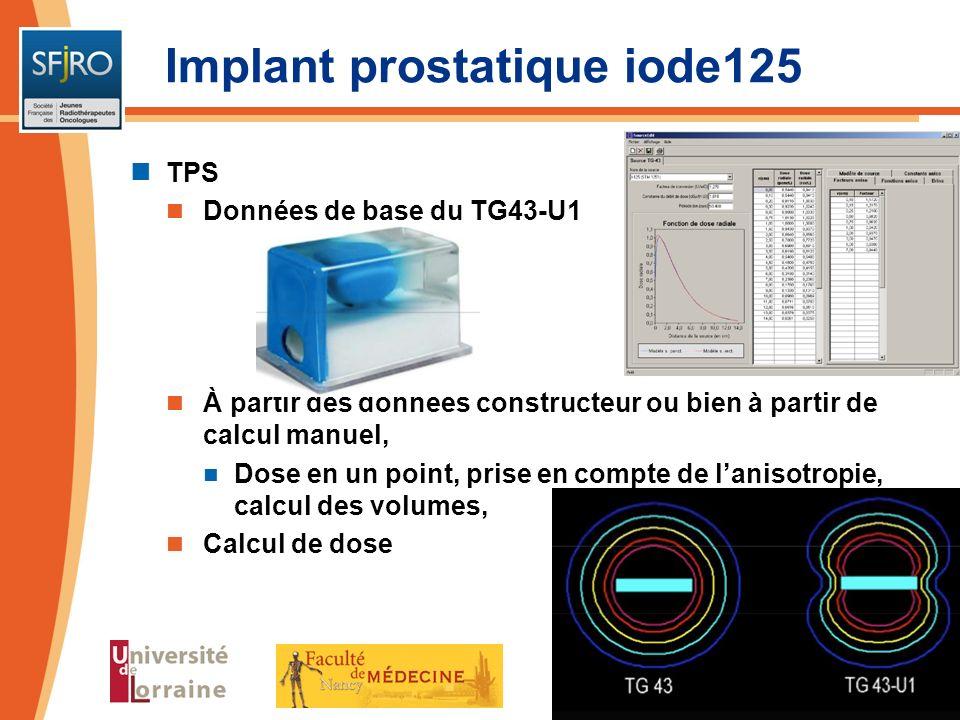 TPS Données de base du TG43-U1 À partir des données constructeur ou bien à partir de calcul manuel, Dose en un point, prise en compte de lanisotropie,