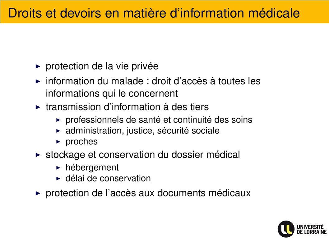 Droits et devoirs en matière dinformation médicale