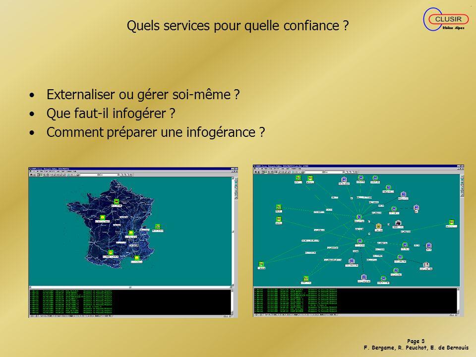 Page 3 F.Bergame, R. Peuchot, E. de Bernouis Quels services pour quelle confiance .