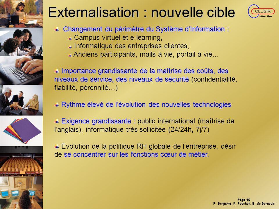 Page 39 F. Bergame, R. Peuchot, E. de Bernouis Répartition coût externe/interne
