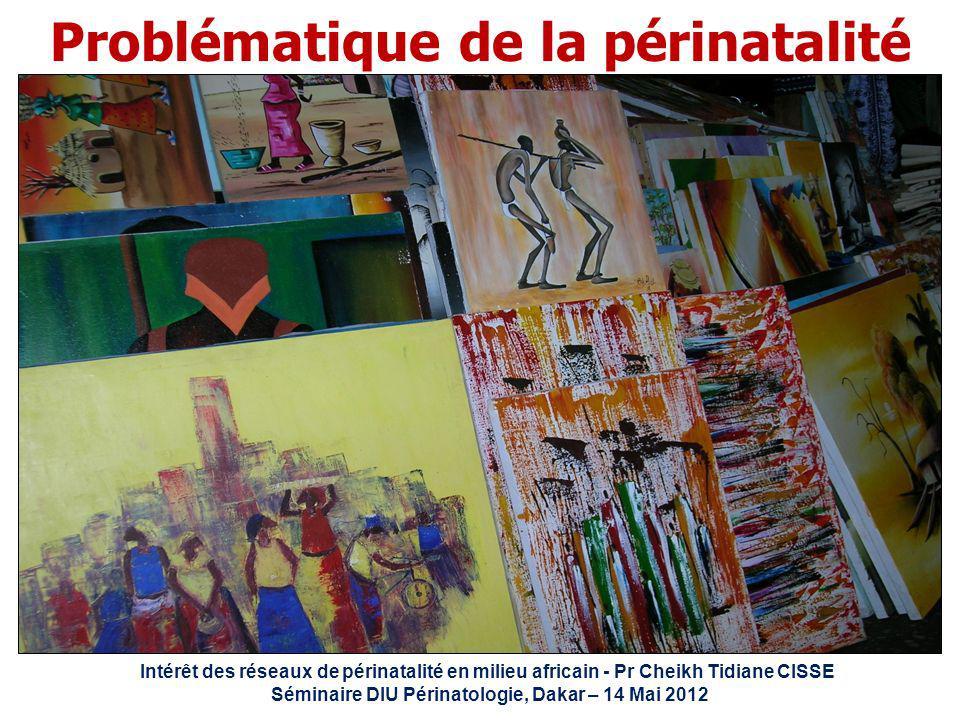 Intérêt des réseaux de périnatalité en milieu africain - Pr Cheikh Tidiane CISSE Séminaire DIU Périnatologie, Dakar – 14 Mai 2012 Problématique de la