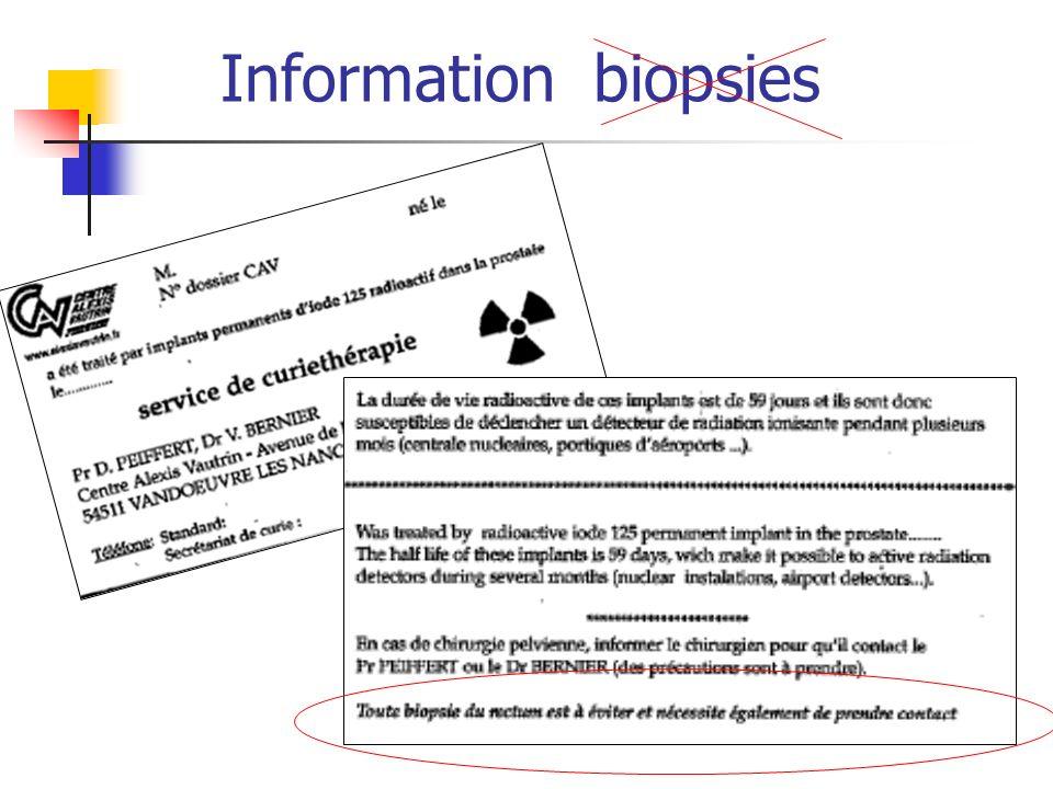 Information biopsies