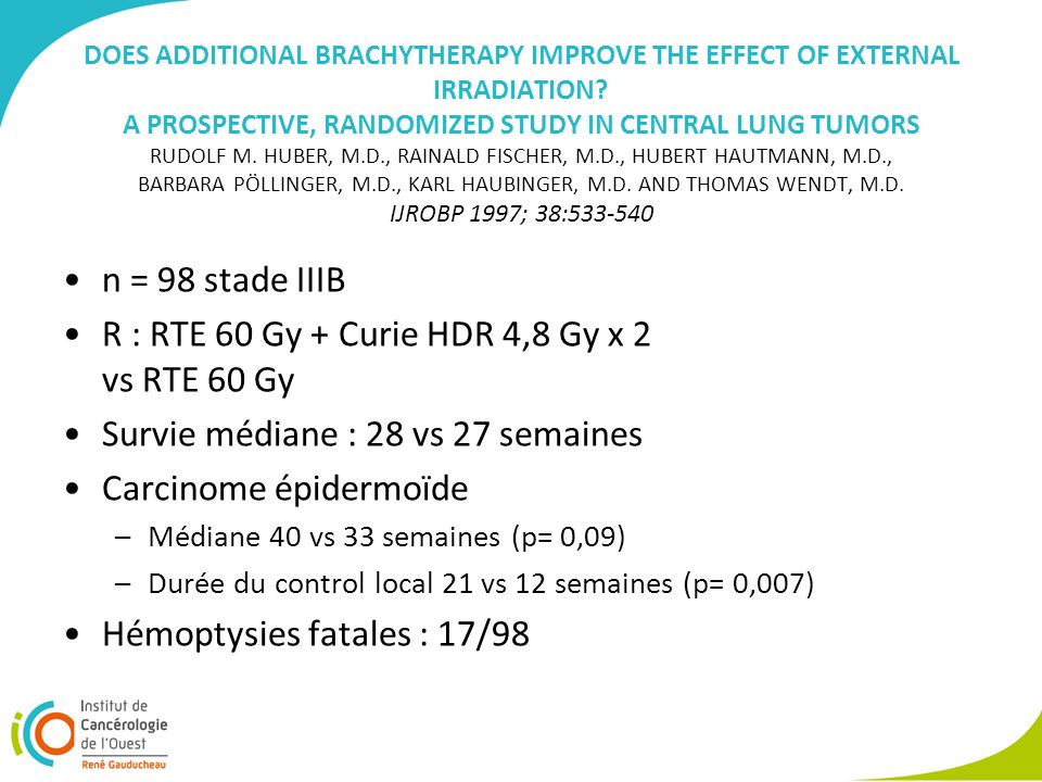 DOES ADDITIONAL BRACHYTHERAPY IMPROVE THE EFFECT OF EXTERNAL IRRADIATION.