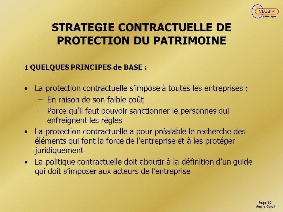 Page 9 Amèle Carat La protection officielle du brevet démarre à partir du moment où on dépose.