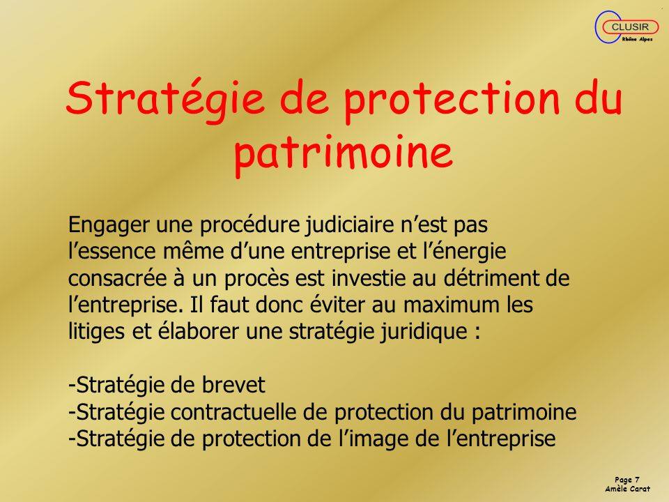 Page 6 Amèle Carat OBLIGATION LEGALE DE SECURISER LES DONNEES NOMINATIVES STOCKEES SUR UN SYSTEME DINFORMATION 226-17 : Le fait de procéder ou de fair