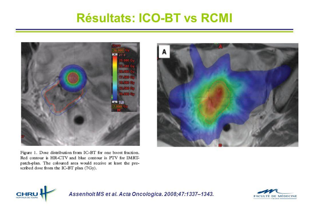 Résultats: ICO-BT vs RCMI Assenholt MS et al. Acta Oncologica. 2008;47:1337–1343.
