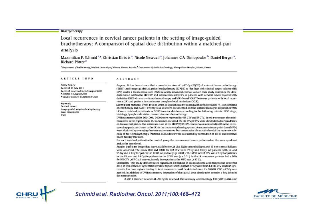 Schmid et al. Radiother. Oncol. 2011;100:468–472